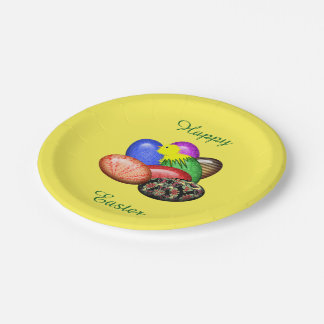 Chicken with Easter Eggs #1 Paper Plate