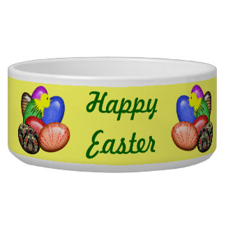 Chicken with Easter Eggs #1 Pet Bowl