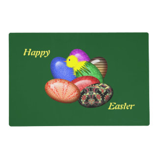 Chicken with Easter Eggs #1 Placemat