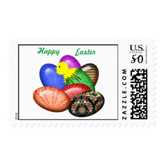 Chicken with Easter Eggs #1 Postage