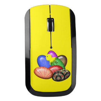 Chicken with Easter Eggs #1 Wireless Mouse