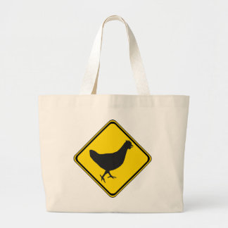 Chicken Xing! Large Tote Bag