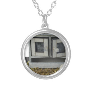 ChickenCoop031415.png Round Pendant Necklace