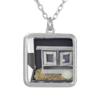 ChickenCoopBriefcase031415.png Square Pendant Necklace