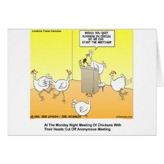 Chickenhead Anonymous Cartoon Gifts & Tees Card
