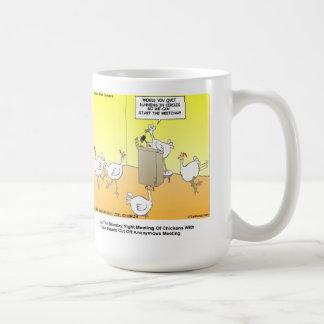 Chickenhead Anonymous Cartoon Gifts & Tees Coffee Mug