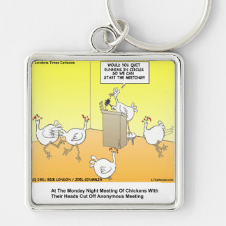 Chickenhead Anonymous Cartoon Gifts & Tees Keychain