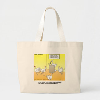 Chickenhead Anonymous Cartoon Gifts & Tees Large Tote Bag