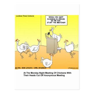 Chickenhead Anonymous Cartoon Gifts & Tees Postcard