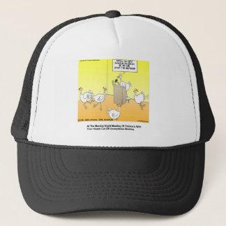 Chickenhead Anonymous Cartoon Gifts & Tees Trucker Hat