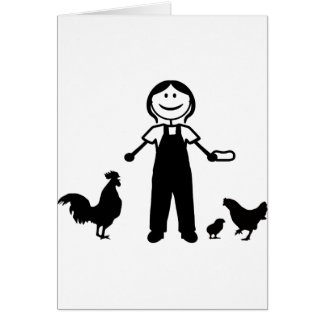 Chickenlady Greeting Card