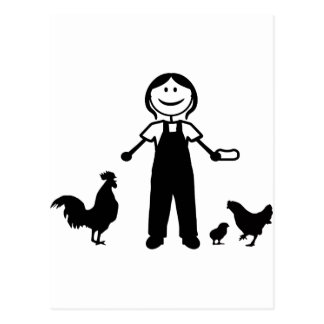 Chickenlady Post Cards