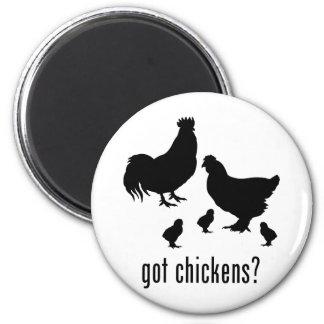 Chickens 2 Inch Round Magnet