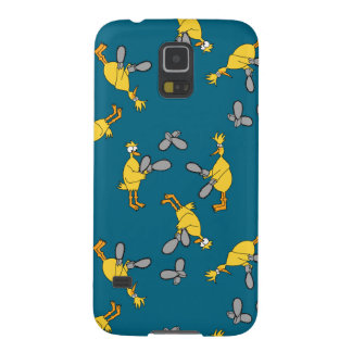 Chickens and Chainsaws Blue Case For Galaxy S5