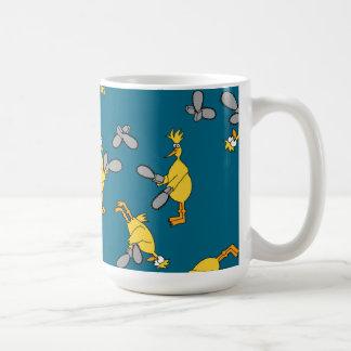 Chickens and Chainsaws Blue Coffee Mug