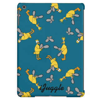 Chickens and Chainsaws Blue iPad Air Cases