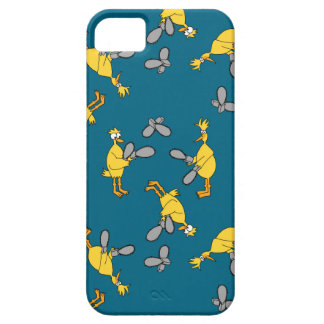 Chickens and Chainsaws Blue iPhone SE/5/5s Case