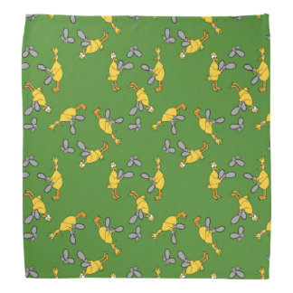 Chickens and Chainsaws Green Bandana