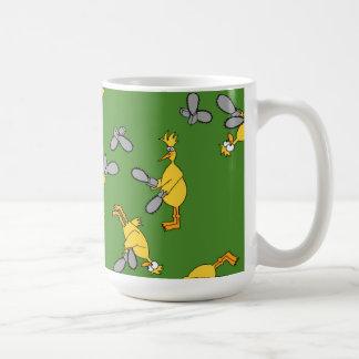 Chickens and Chainsaws Green Coffee Mug