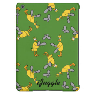Chickens and Chainsaws Green Cover For iPad Air