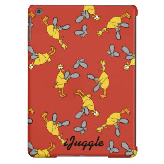 Chickens and Chainsaws Red Cover For iPad Air