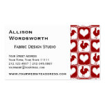 Chickens and Hearts Rooster Pattern Double-Sided Standard Business Cards (Pack Of 100)
