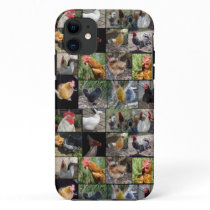Chickens And Roosters Photo Collage, iPhone 11 Case