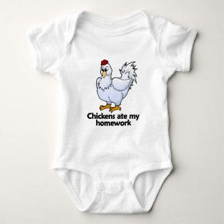 Chickens ate my homework baby bodysuit