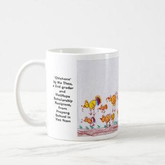 """Chickens"" by Ma Theu, 2nd grader Coffee Mug"