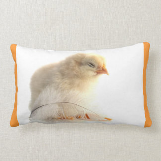 chickens chicks with more feather lumbar pillow
