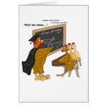 Chickens Cross The Road Philosophy Funny Greeting Card