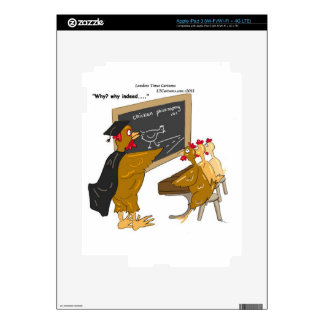 Chickens Cross The Road Philosophy Funny iPad 3 Decals