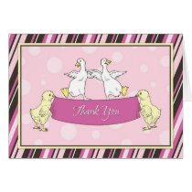 Chickens Ducks Baby Shower Thank You Card