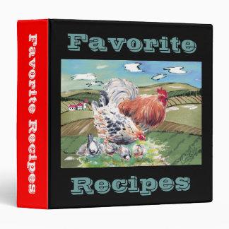 Chickens Favorite Recipes binder