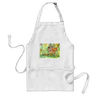 Chickens Hen Birds Watercolor Adult Apron