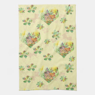 Chickens Hen Rooster Watercolor Farm Animal Yellow Towel