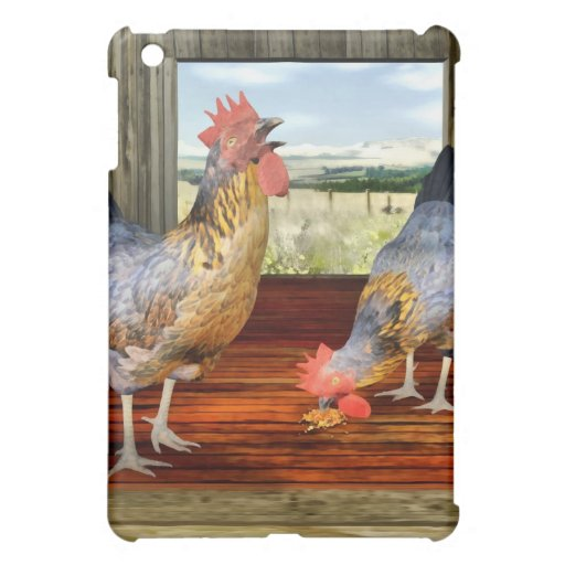Chickens in Barn iPad Mini Covers