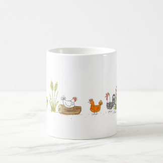Chickens in the Meadow Mug