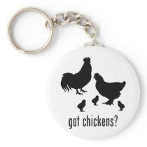 Chickens Keychain