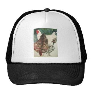 chickens mesh hats