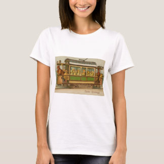 Chickens on Trolley Car Vintage Easter T-Shirt