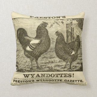 Decorative Pillows With Chickens : Vintage Chicken Pillows, Vintage Chicken Throw Pillows