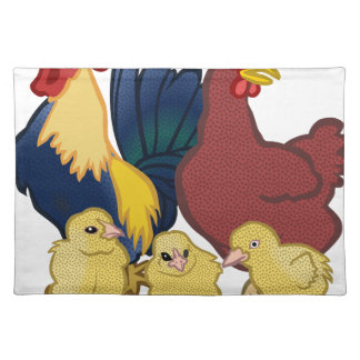 chickens placemat