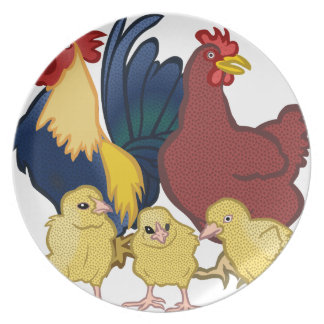 chickens plate
