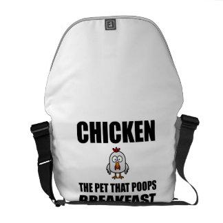 Chickens Poop Breakfast Courier Bag