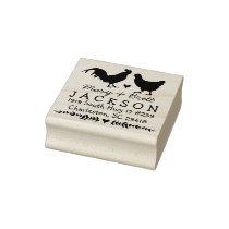 Chickens Return Address Stamp - Wedding Animals