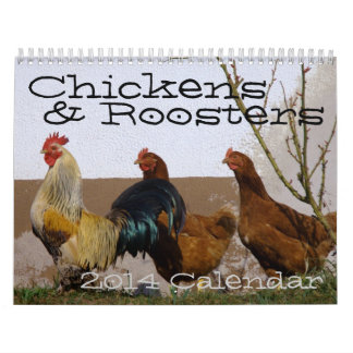 Chickens Roosters Calendar