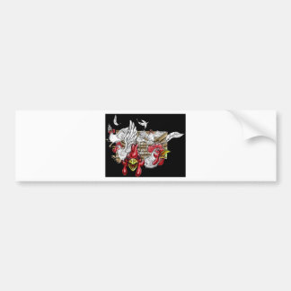 Chickens Roosters Hen House Hens Coop Farm Animals Bumper Sticker