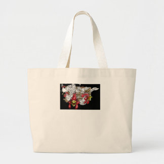 Chickens Roosters Hen House Hens Coop Farm Animals Large Tote Bag