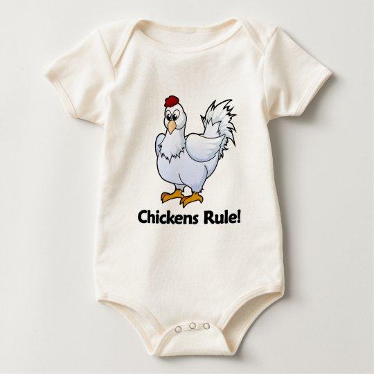 Chickens Rule! Baby Bodysuit